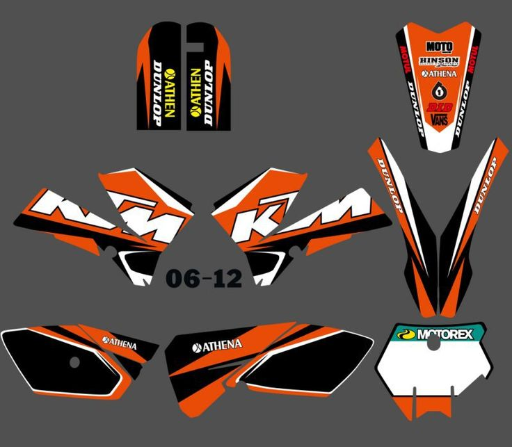 New  (0388 ) TEAM GRAPHICS&BACKGROUNDS DECALS STICKERS Kits Fit for KTM SX85 2006 2007 2008 2009 2010 2011 2012 #Affiliate