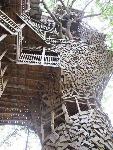 Minister's Tree House in Crossville, TN - Anyone been? Part art? Part shack stack? Part Swiss Family Robinson?
