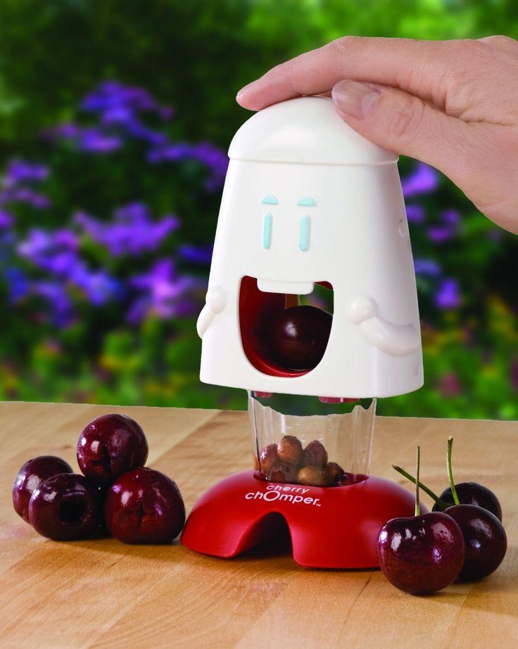 Cherry Chomper Cherry Pitter  http://www.lovedesigncreate.com/talisman-designs-cherry-chomper-cherry-pitter/