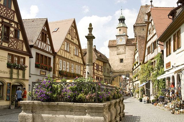 Rothenburg ob der Tauber, Germany.Step back into Medieval Europe and follow the cobbled streets through the fairytale gate in the city walls. This is one of the most beautiful towns along the Romantic Road in Bavaria, a route in itself worth including in this list. The Romantic Road runs from Frankfurt to Munich. Rothenburg, although small is packed with interesting sites and museums including the main Market Square surrounded by 14th century buildings.