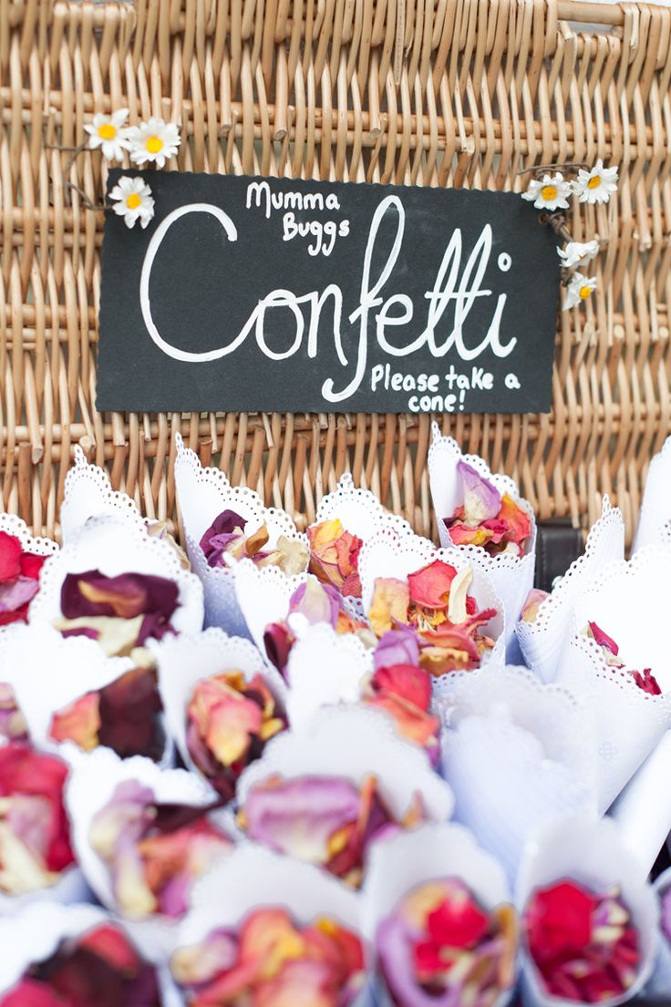 Petal Confetti Cones Hamper Basket Doilies Colourful May Chapel Ruins Outdoor Wedding http://www.sourceimages.co.uk/