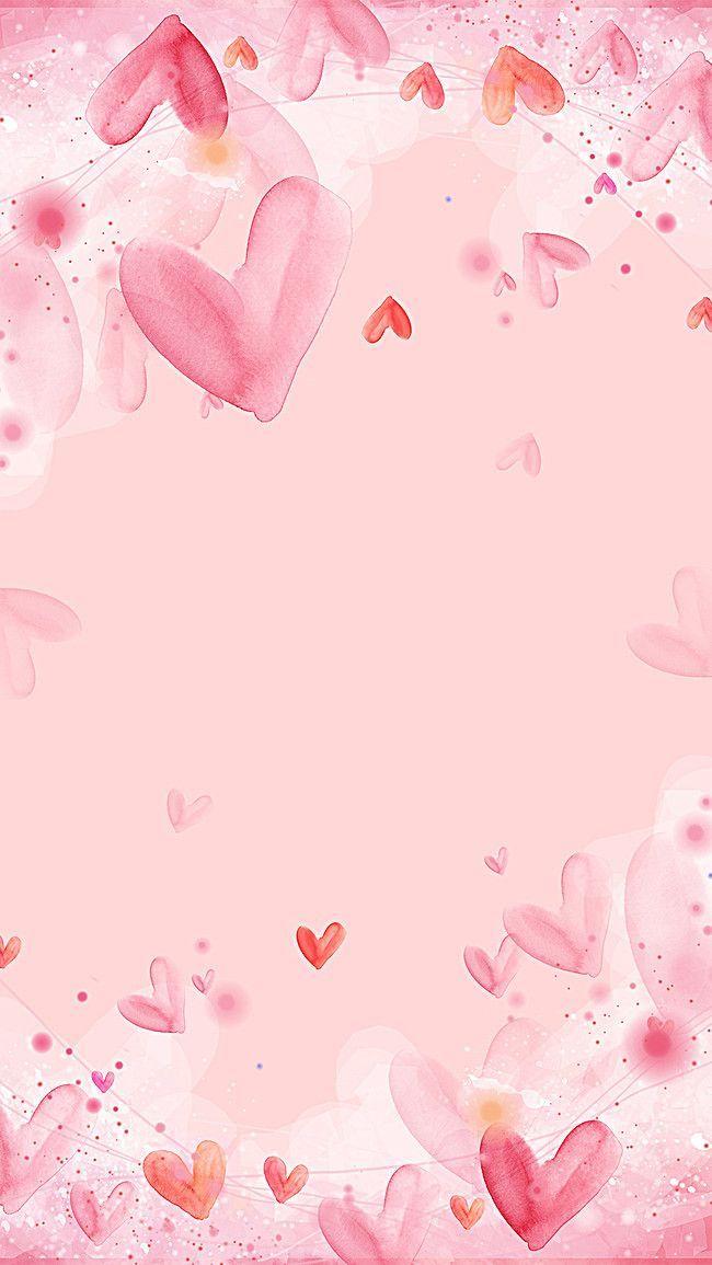 Pink Love Background Simple And Lovely Fresh Backgrounds Poster Bunga Kertas Dinding Kartu Bunga