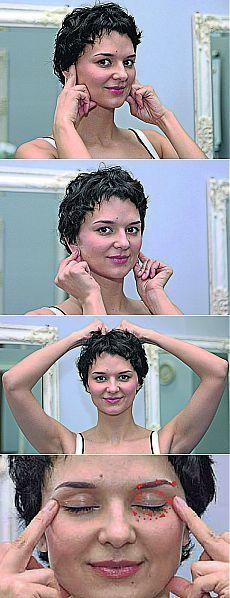 Необычная утренняя гимнастика | Домохозяйки Восемь простых упражнений, которые за считанные минуты «разбудят» ваше лицо и заставят вас сиять…Вам нравится ваше отражение в зеркале утром? Многих женщин все-таки угнетают отеки под глазами, неровный цвет кожи и «помятое» после сна лицо. А так хочется прийти на работу, как после салона красоты. Оказывается, сделать это очень просто.