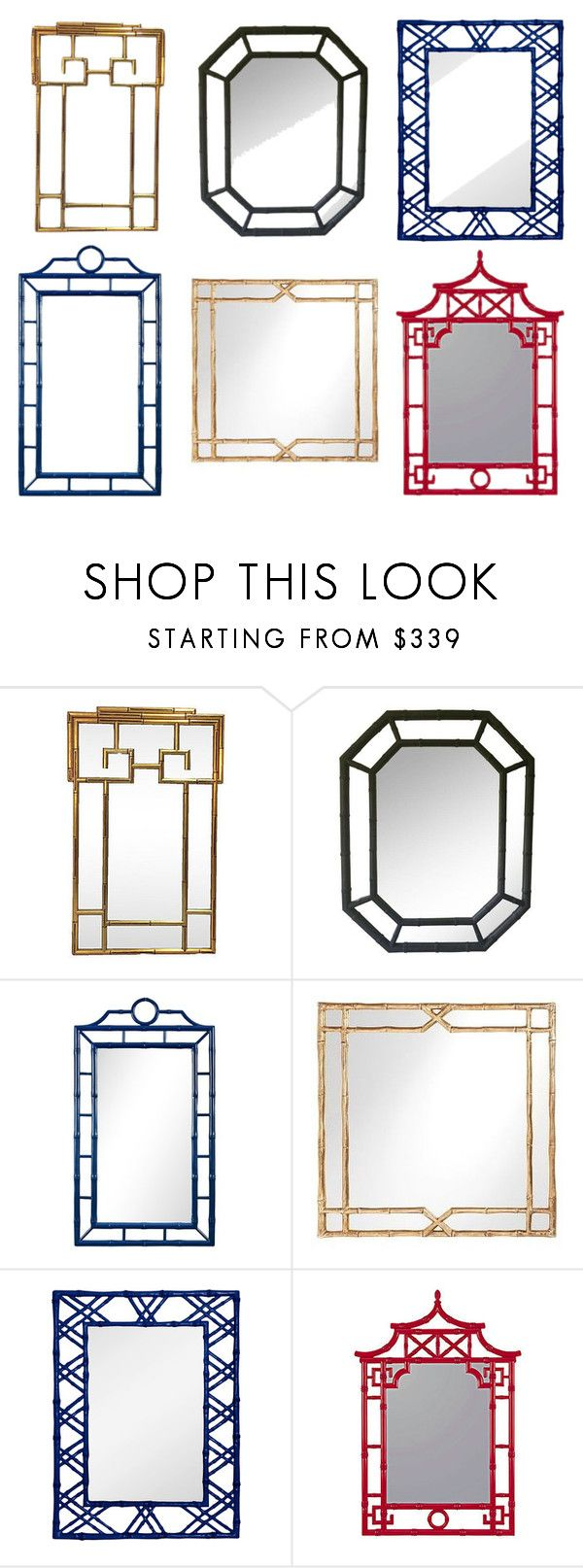 """""""faux bamboo mirror"""" by aesthetically-inclined on Polyvore featuring interior, interiors, interior design, home, home decor, interior decorating, Bungalow 5 and Pottery Barn"""