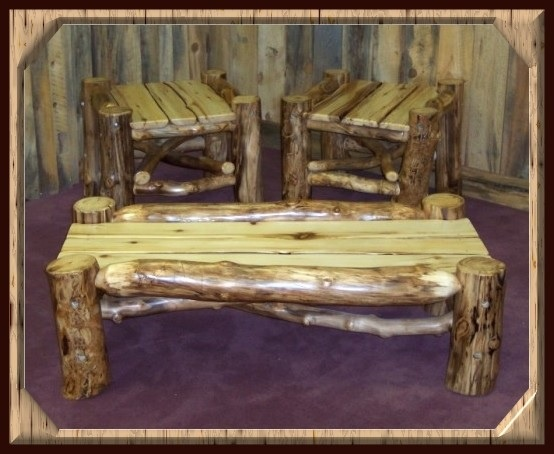 Natural Log Furniture Aspen Mountain Man Series Coffee Table End Tables Item