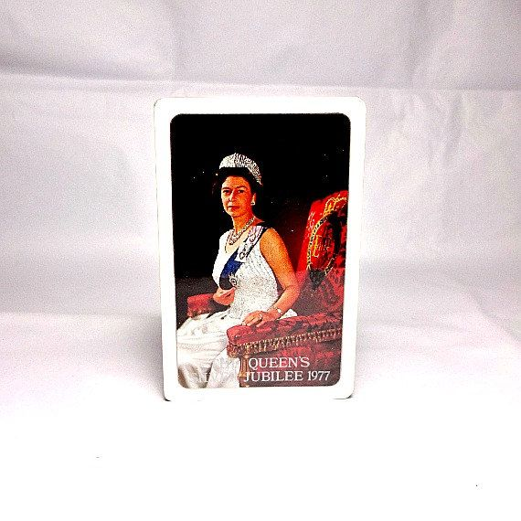 Queen Elizabeth Ii 1977 Silver Jubilee playing cards. 38 years old yet still sealed and unused.