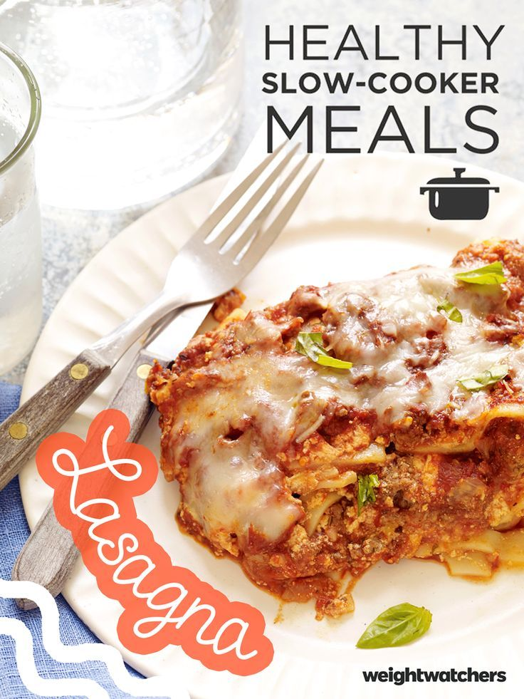 Next time you want to make lasagna, try making it in your slow-cooker! Once it's ready let it sit for a few minutes to firm up before serving- DELICIOUS