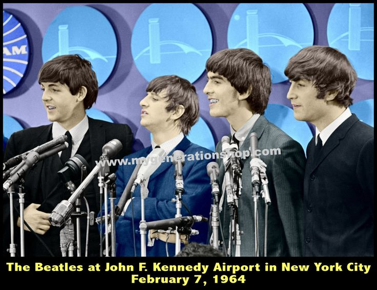 The Beatles New York City 1964 Poster - JFK Airport PAN AM Arrivals Lounge by MyGenerationShop on Etsy