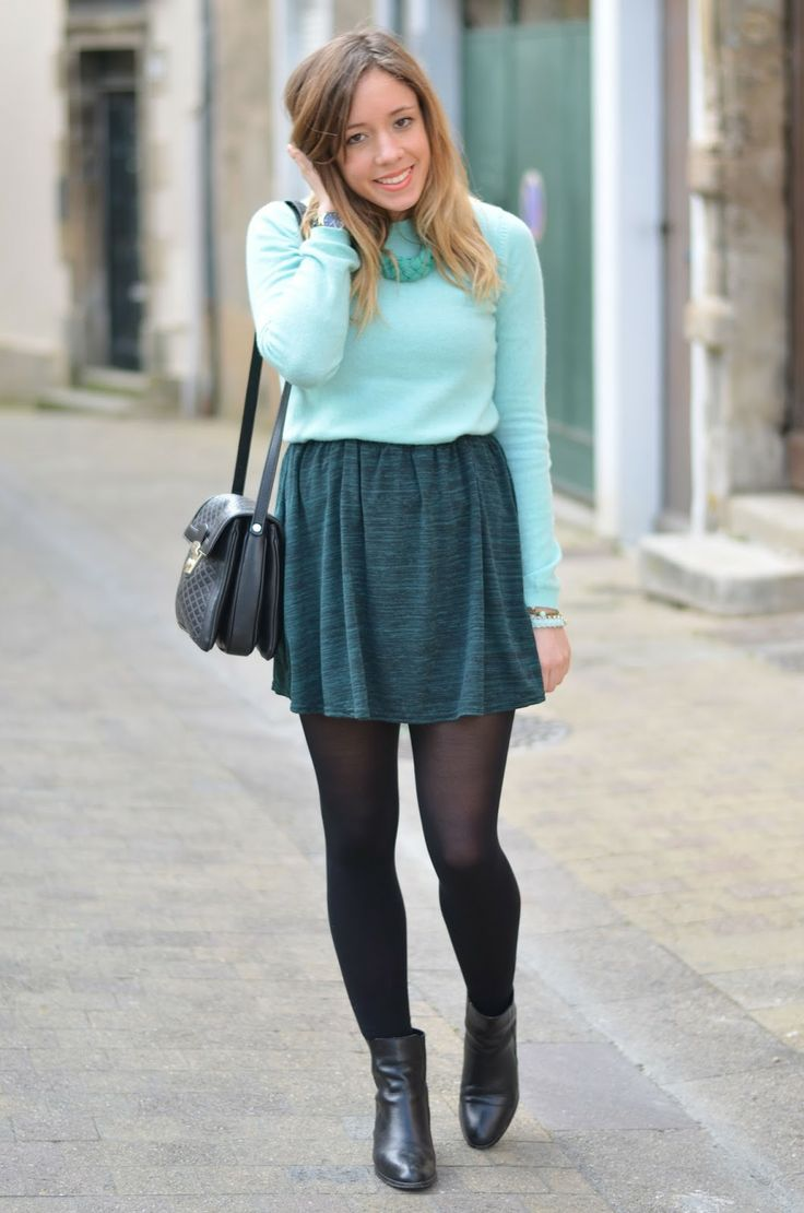 Green from head to (almost) toe ! #fashion #fashionblogger #outfit #ootd