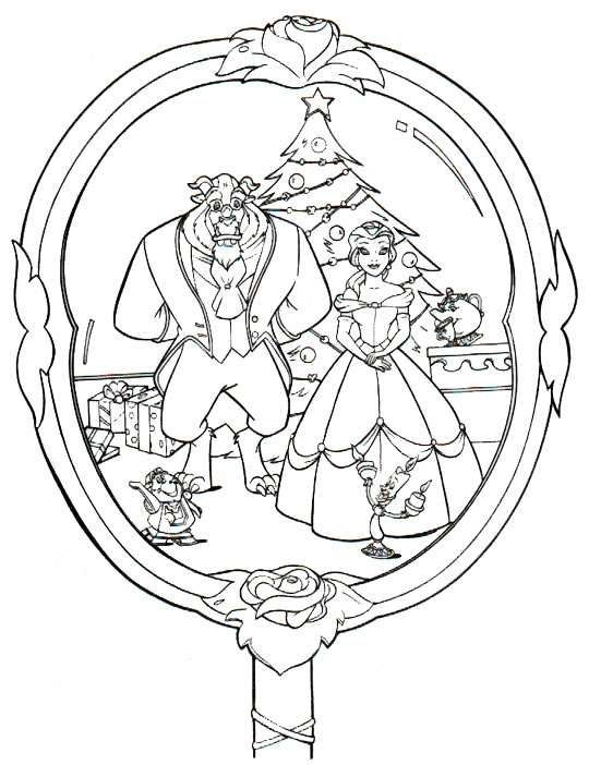 Disney coloring pages christmas coloring pages for Miroir coloriage