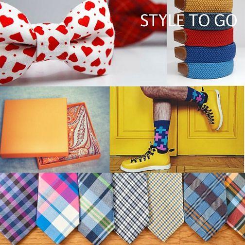 Muchy, paski, poszetki, skarpety i krawaty. Bowtie, belts, pocket square, socks and ties.