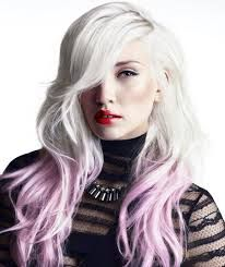 White And Pink Ombre Long Hair Dipped Ends The Most