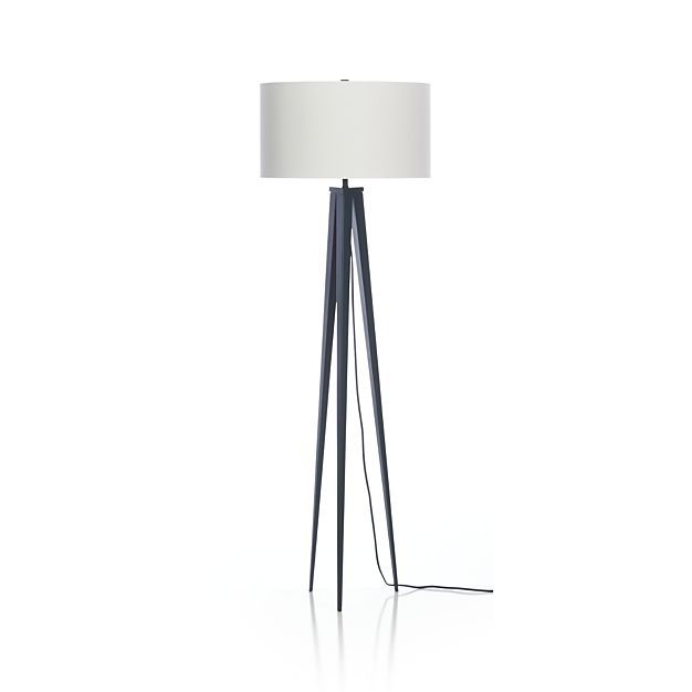 Theo Blue Floor Lamp in Floor Lamps | Crate and Barrel