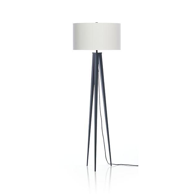 Theo Blue Floor Lamp in Floor Lamps | Crate and Barrel