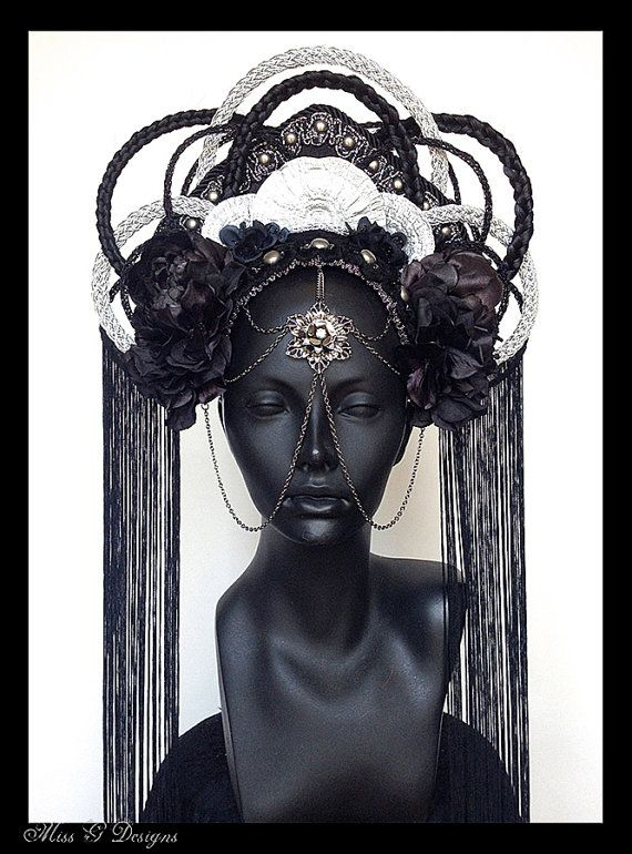 Hey, I found this really awesome Etsy listing at http://www.etsy.com/listing/158920228/made-to-order-dark-empress-headdress