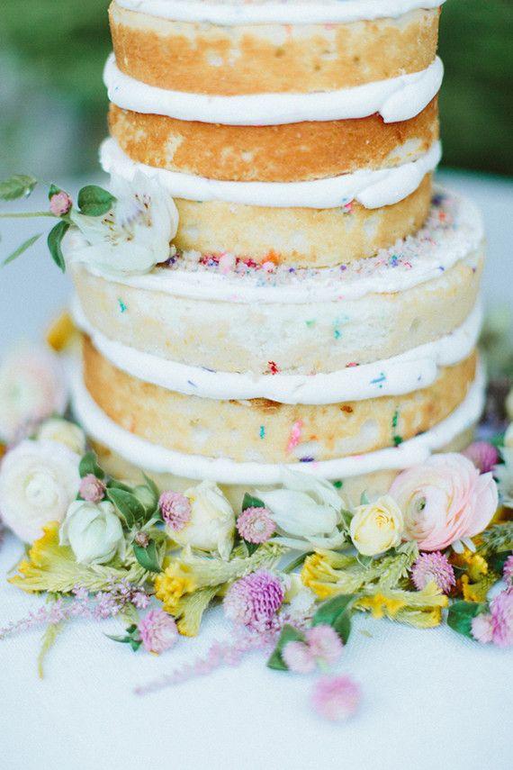 Rustic Funfetti Wedding Cake