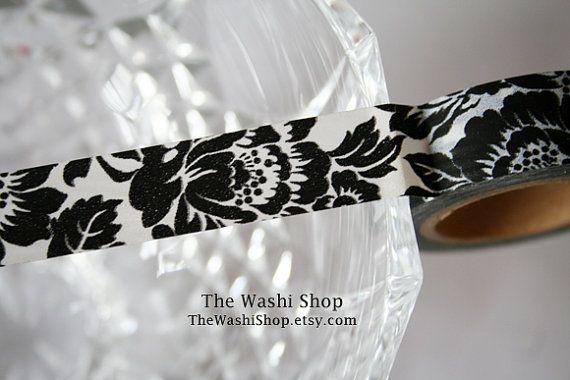 Fiore nero del nastro di Washi