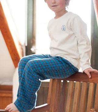 Kinderpyjama bio flanel, blauw - LIVING CRAFTS - Meer dan Mooi