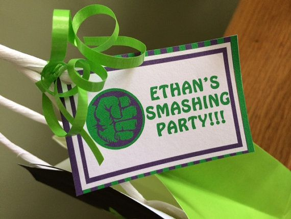 Incredible Hulk Themed Party Favor Bags by SRDesserts on Etsy