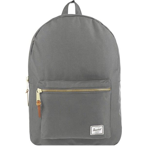 HERSCHEL SUPPLY CO Settlement backpack ($77) ❤ liked on Polyvore featuring bags, backpacks, grey, laptop rucksack, rucksack bag, herschel supply co backpack, gray bag und zip bags