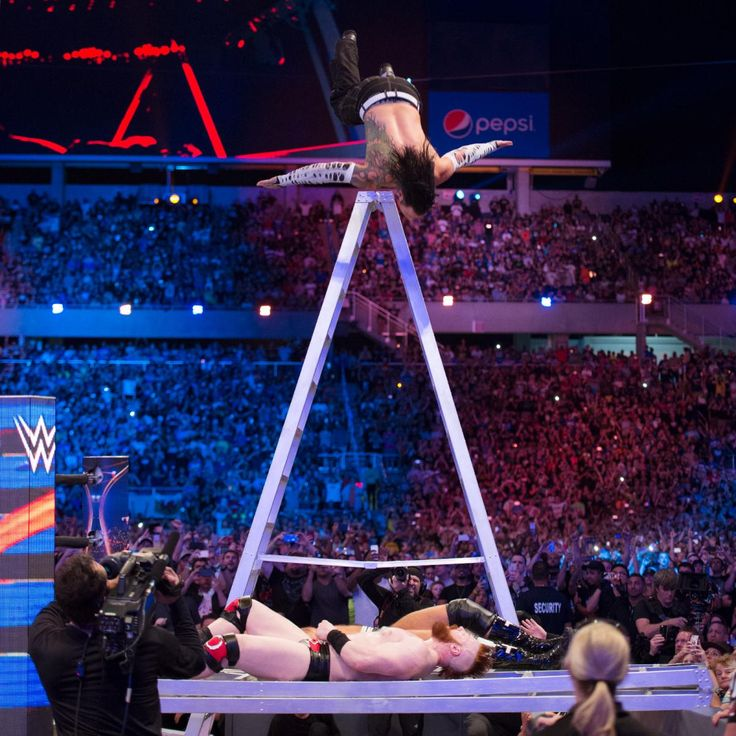 """From """"Stone Cold"""" Steve Austin's Stunner to AJ Styles' Phenomenal Forearm, check out photos of the 50 greatest finishing moves ever performed inside a WWE ring."""