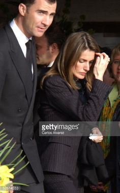 Princess Letizia arrives at the church of El Carmen, in Asturias, northern Spain, 31 March 2005, to participate in the funeral of her paternal grandfather Jose Luis Ortiz Velasco, who died on wednesday morning at his home in Sardeu, in the Asturian village of Ribadesella. AFP Photo / Miguel RIOPA