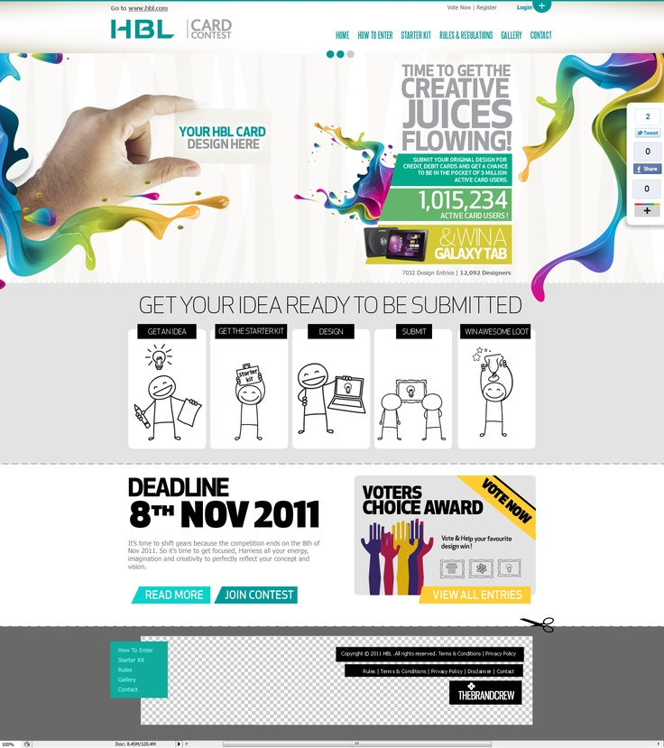 HBL Credit Card Design Competition #webdesign