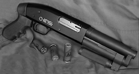 The SUPER-SHORTY 12-gauge shotgun