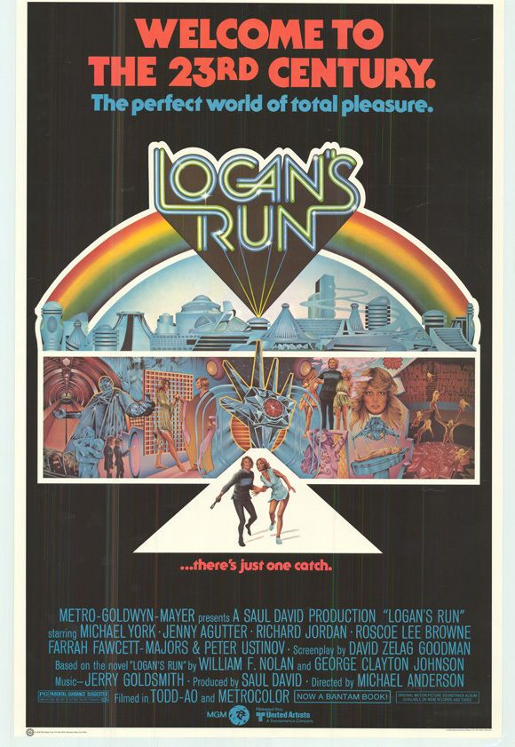 $18 LOGAN'S RUN Movie POSTER 27x40 C Michael York Jenny Agutter Richard Jordan