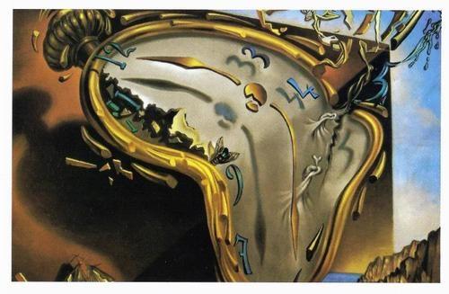 Salvador Dali Clock Explosion Surrealism Spain Trippy RARE ...
