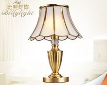 В Европейском стиле гостиной спальня ночники ручной медь все-медные лампы
