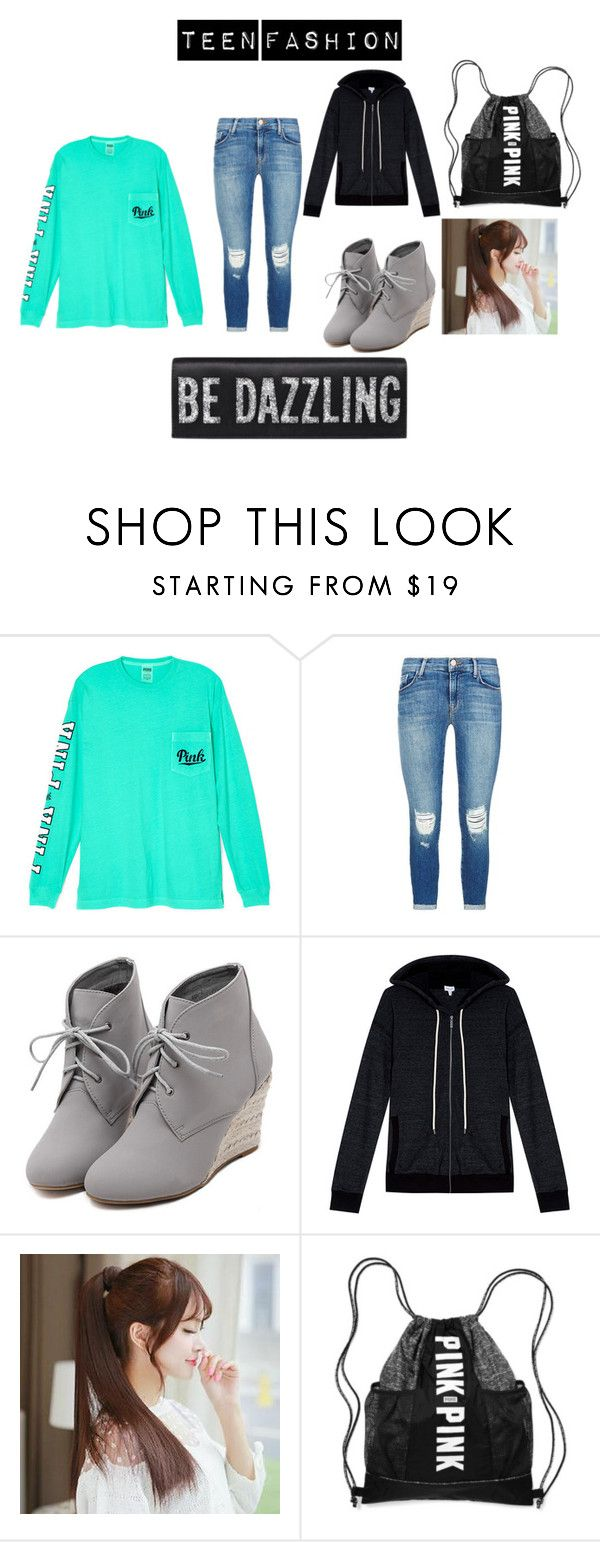 """""""new teen fashion"""" by nikkibae23 on Polyvore featuring Victoria's Secret, J Brand, WithChic, Splendid, Pin Show, women's clothing, women, female, woman and misses"""