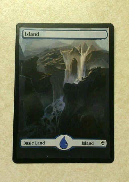 MTG altered art zendikar island Magic The by WallqvistStudio