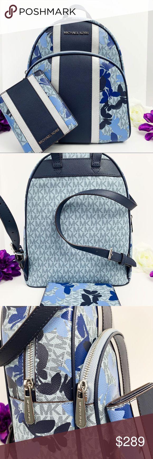 NWT Michael Kors Abbey Backpack & Passport Wallet Description:   100% Authentic …