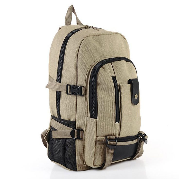 Baobao male fashionable casual canvas backpack middle school students school bag travel bag large capacity backpack man bag-in School Bags f...