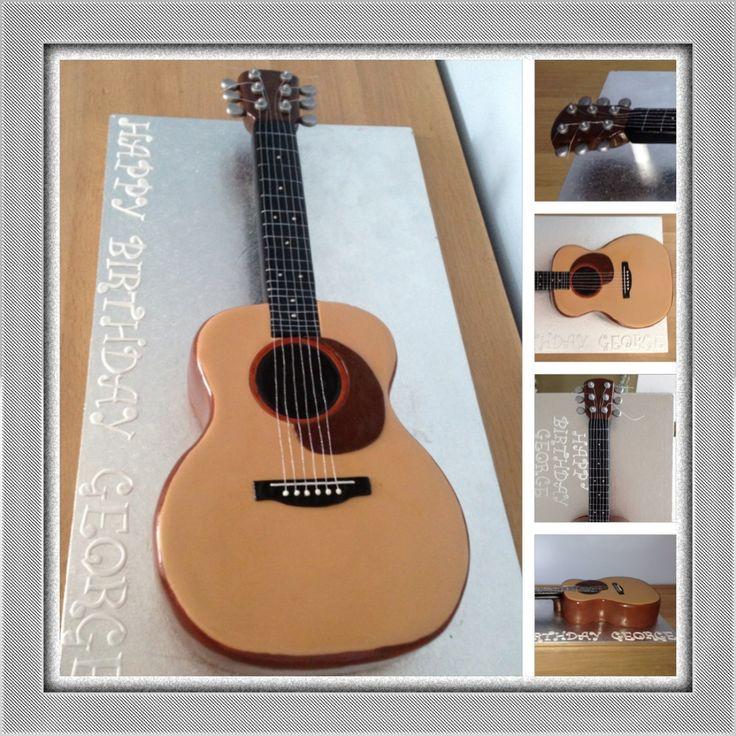 Acoustic Guitar Cake Images : Best 25+ Guitar cake ideas on Pinterest Music cutter ...