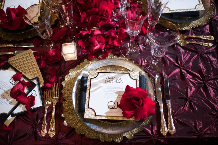 Old Hollywood Glamour at the Roosevelt with Luxe Linen || Strictly Weddings || November 4th, 2016