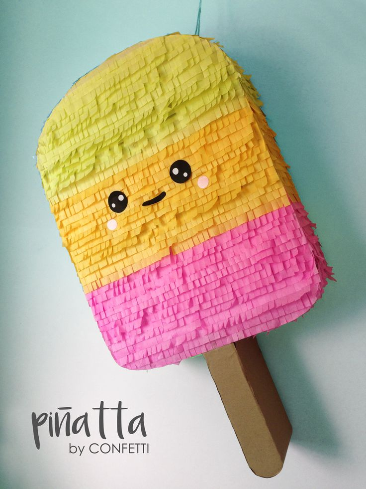 Piñata Summer Popsicle perfect for any party. Summer Party.