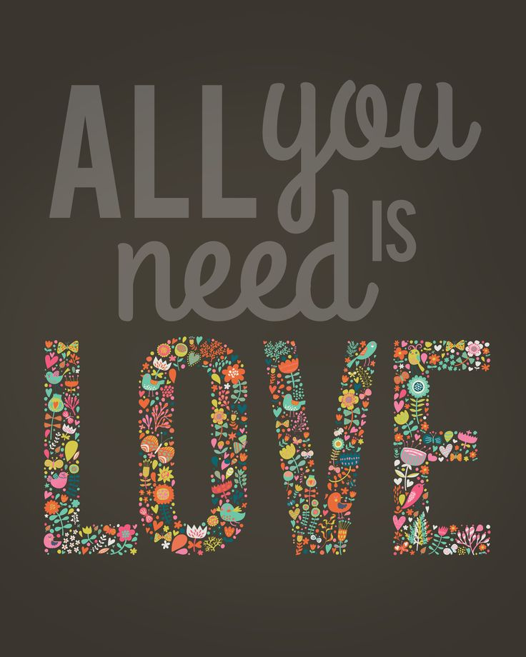 valentine's day FREE printable: All You Need is LOVE!