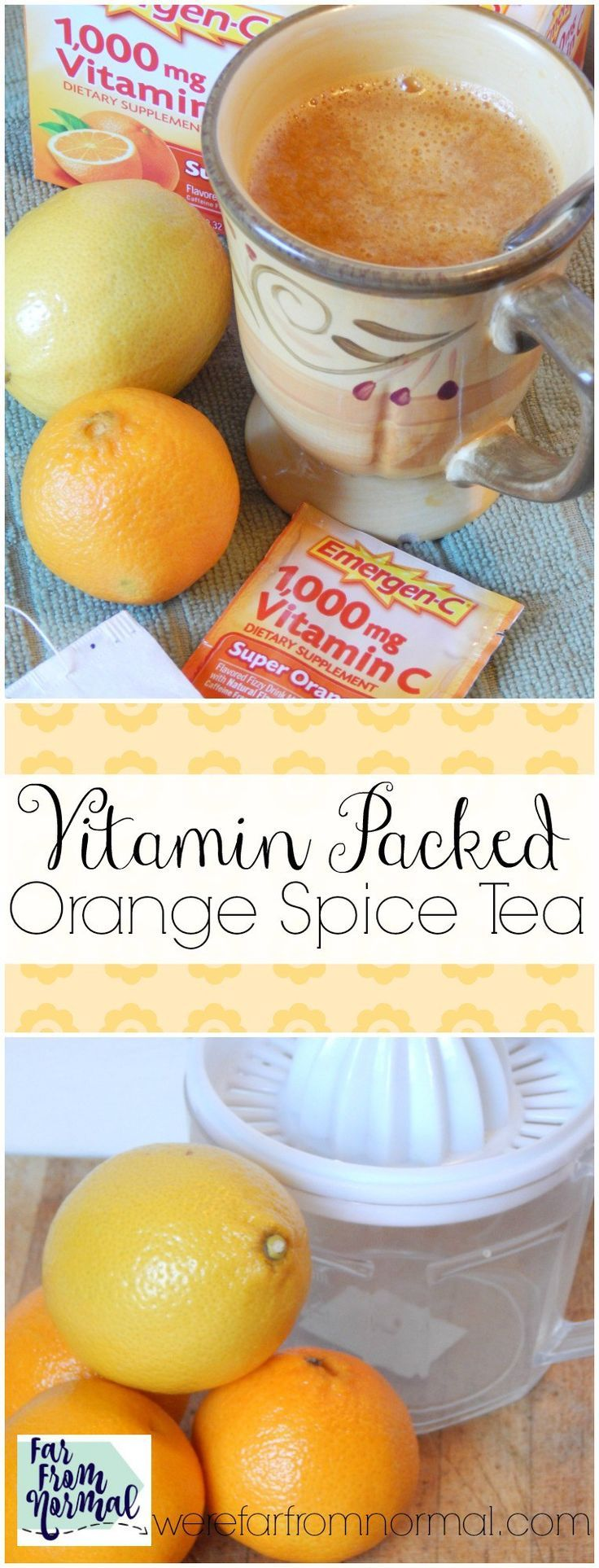 This tea is so delicious & packed with vitamins! Orange flavor, cinnamon and spices, the perfect way to enjoy your vitamins! #ad #HowDoYouEmergenC /walgreens/