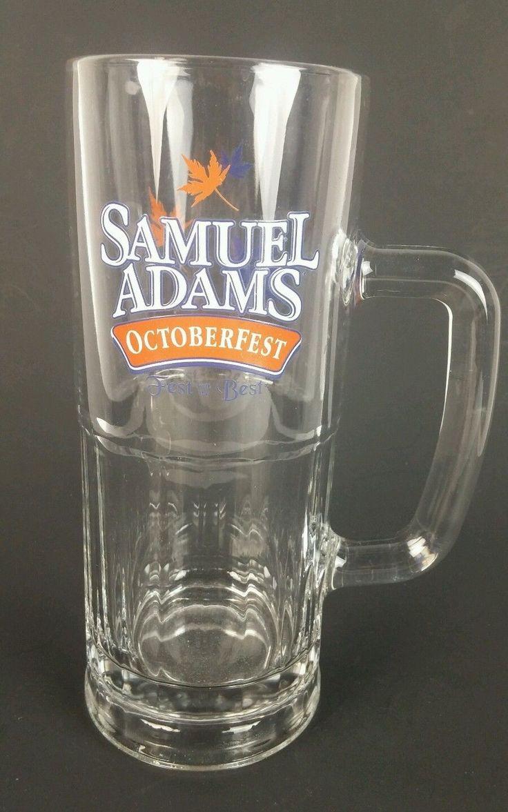 Samuel Adams Octoberfest Fest With The Best 20 Oz Glass Beer Stein Mug Seasonal