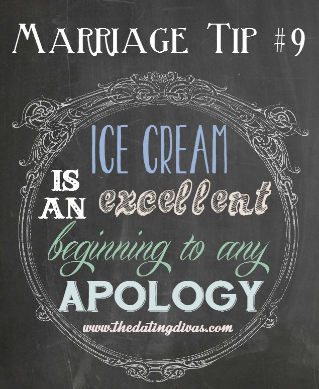 Now THAT is a great marriage tip. Ha ha!  Ice Cream is Glenn's love language!
