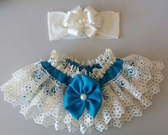 Calcinha em gripir + tiara