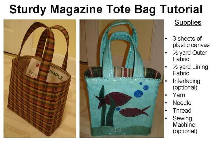 Tutorial : STURDY MAGAZINE TOTE BAG - PURSES, BAGS, WALLETS