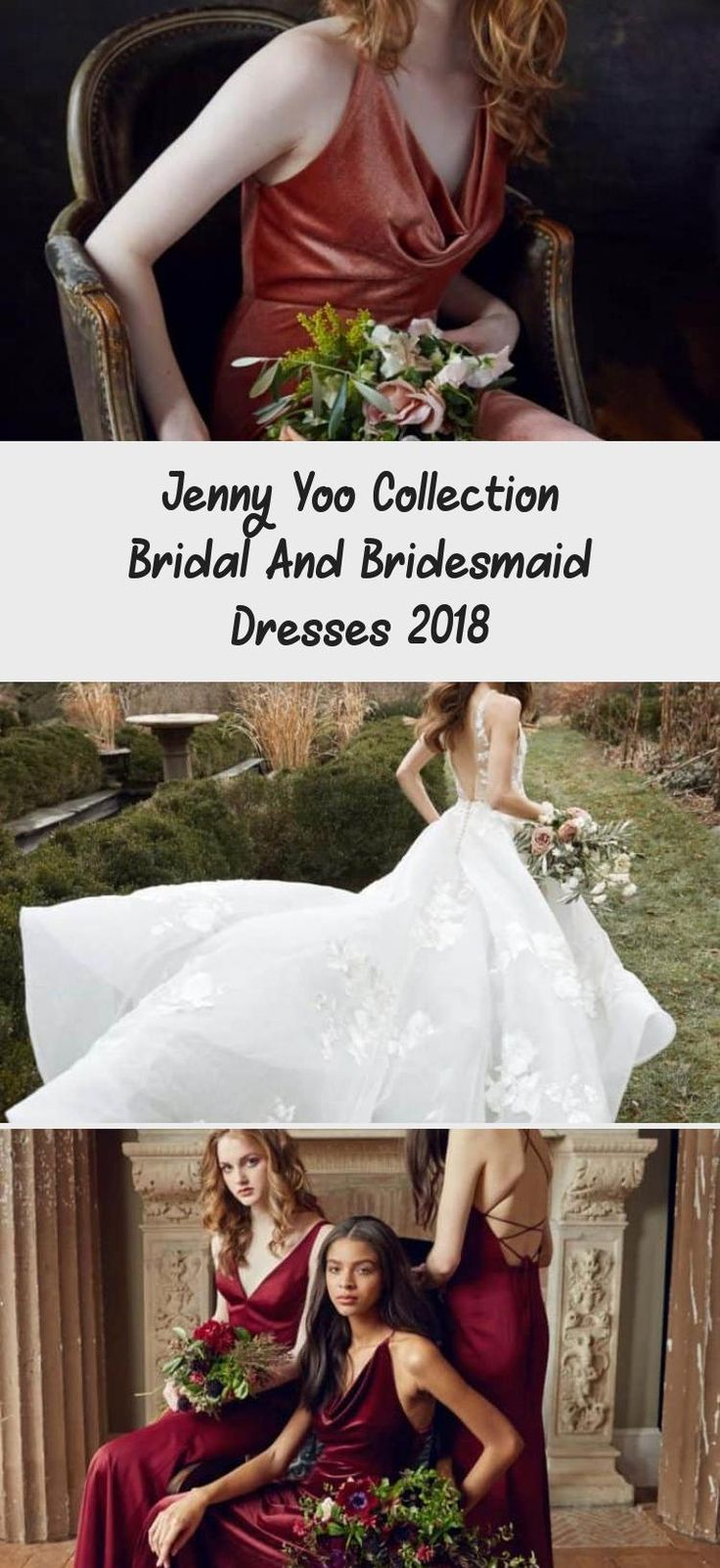 Emerald green satin Jenny Yoo bridesmaid dresses. Winter wedding, dark green bridesmaid dresses, fall wedding, elegant bridesmaids #BridesmaidDressesMuslim #BridesmaidDressesBoho #UniqueBridesmaidDresses #GreenBridesmaidDresses #BridesmaidDressesMint
