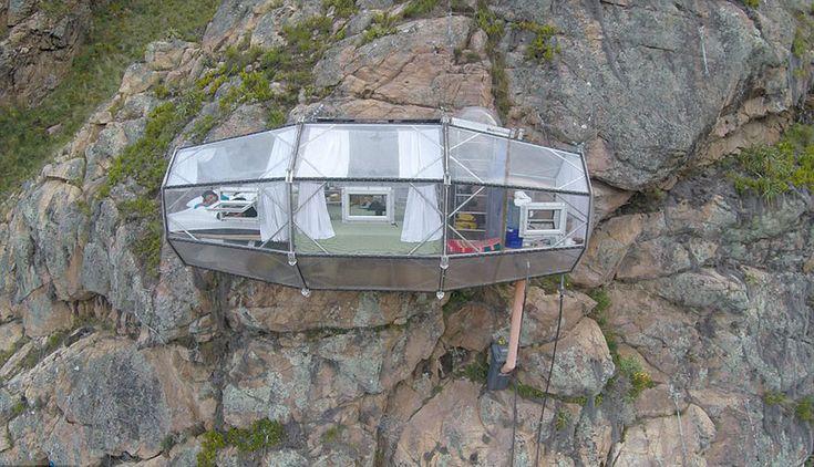 Terrifying See-Through Sleeping Capsules Hang 400 Feet Above Peru's Sacred Valley   Bored Panda
