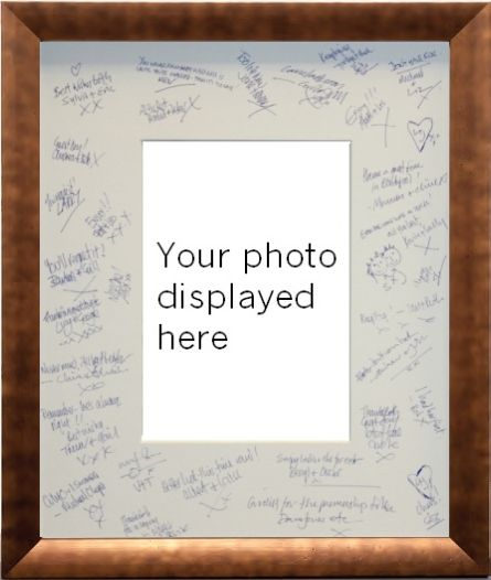 wedding or any special day event signature frame and photo mount