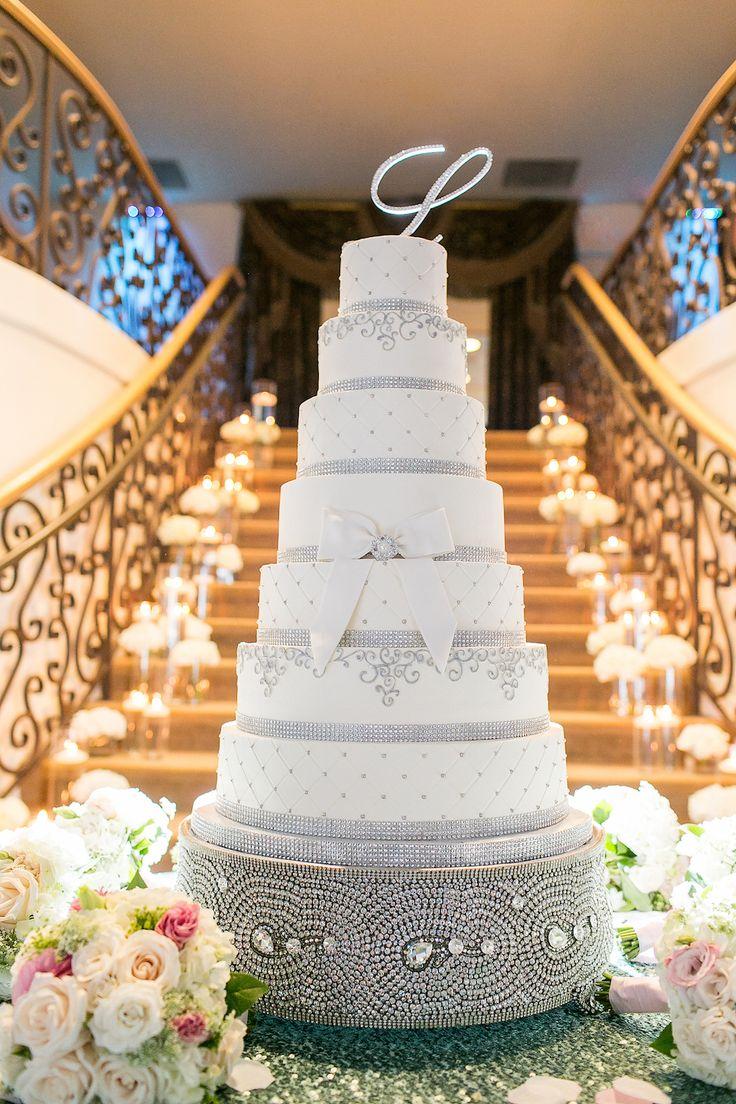 wedding cakes northern new jersey%0A Church Ceremony   Tiffany Blue Ballroom Reception in North Carolina  Wedding  Cake