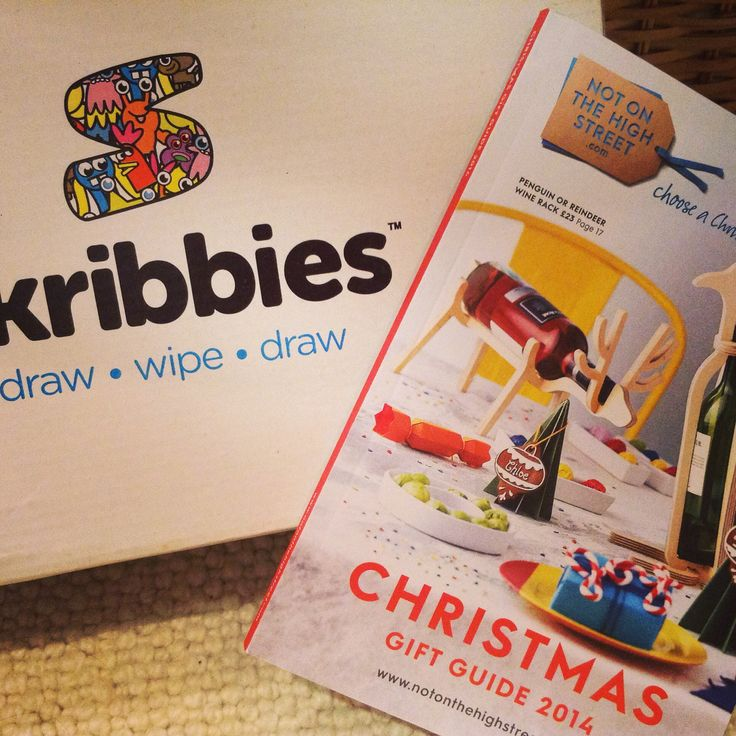Skribbies are featured as a best kids buy in the notonthehighstreet Christmas catalogue