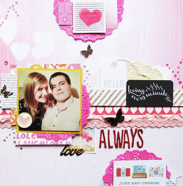 #simplestories #americancrafts #bobunny #sajcia #scrapbooking #scrap #layout #LO #lovely